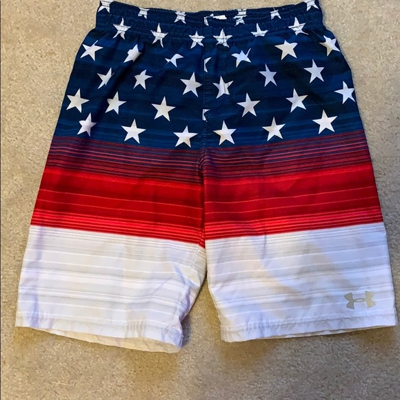 LARGE UNDER ARMOUR SWIMMING SHORTS TRUNKS BOYS YOUTH  SMALL MEDIUM